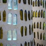 bottle wall up close